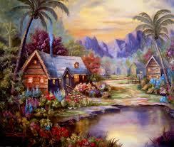Pemandangan desa dunia abang kotak