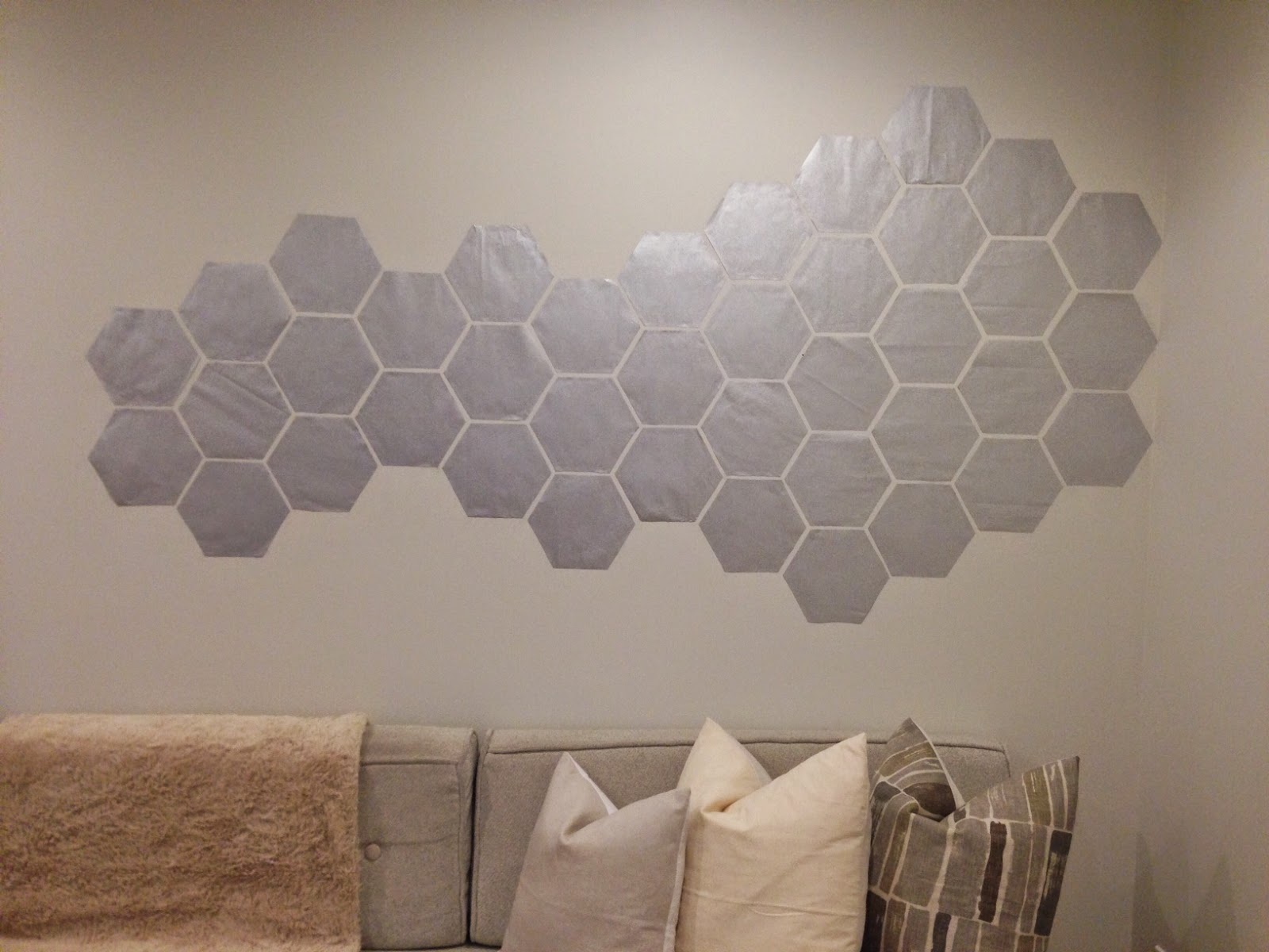 Wall Decor Hexagon : Diy hexagon honeycomb wall art live tr?s chic