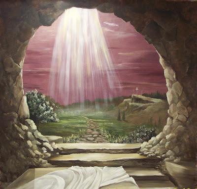 Empty tomb of Jesus Christ Wallpaper