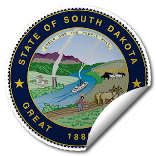 Sticker of South Dakota Seal