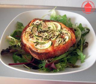 tartine saumon fumé courgettes
