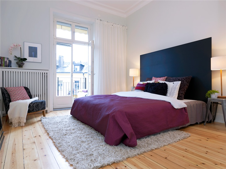 ideas for bedrooms white black and purple bedroom