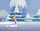 Peach Christmas Skating
