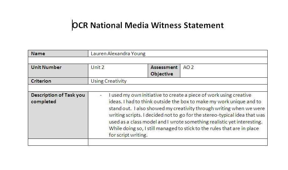 witness statement template .