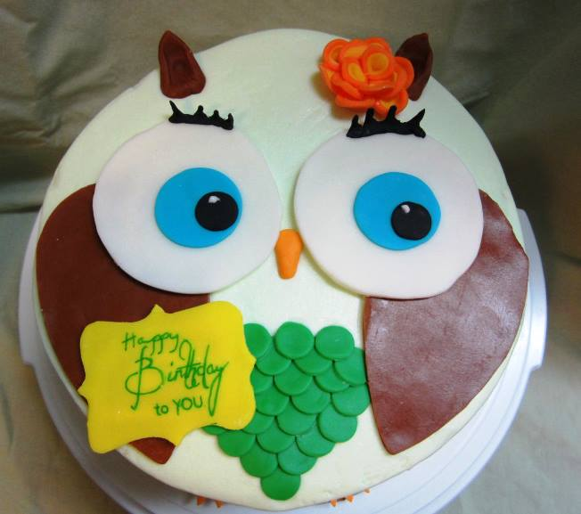 Easy Owl Birthday Cake Sweet Ps Cake Decorating Baking Blog