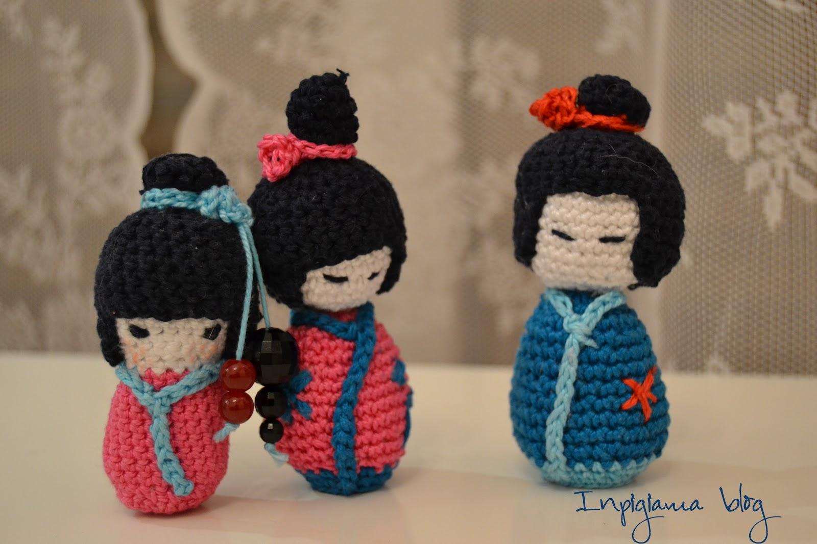 Amigurumi Uncinetto Tutorial Italiano : In pigiama come fare la kokeshi a crochet tutorial in italiano