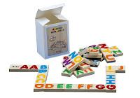 Domino alfabetico in legno