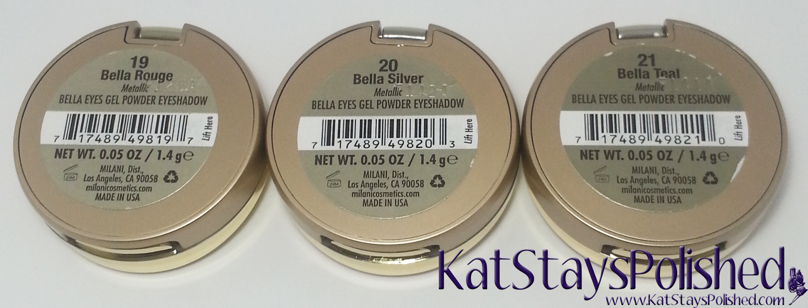 Milani Bella Eyes Gel Powder Eye Shadow - Rouge - Silver - Teal | Kat Stays Polished