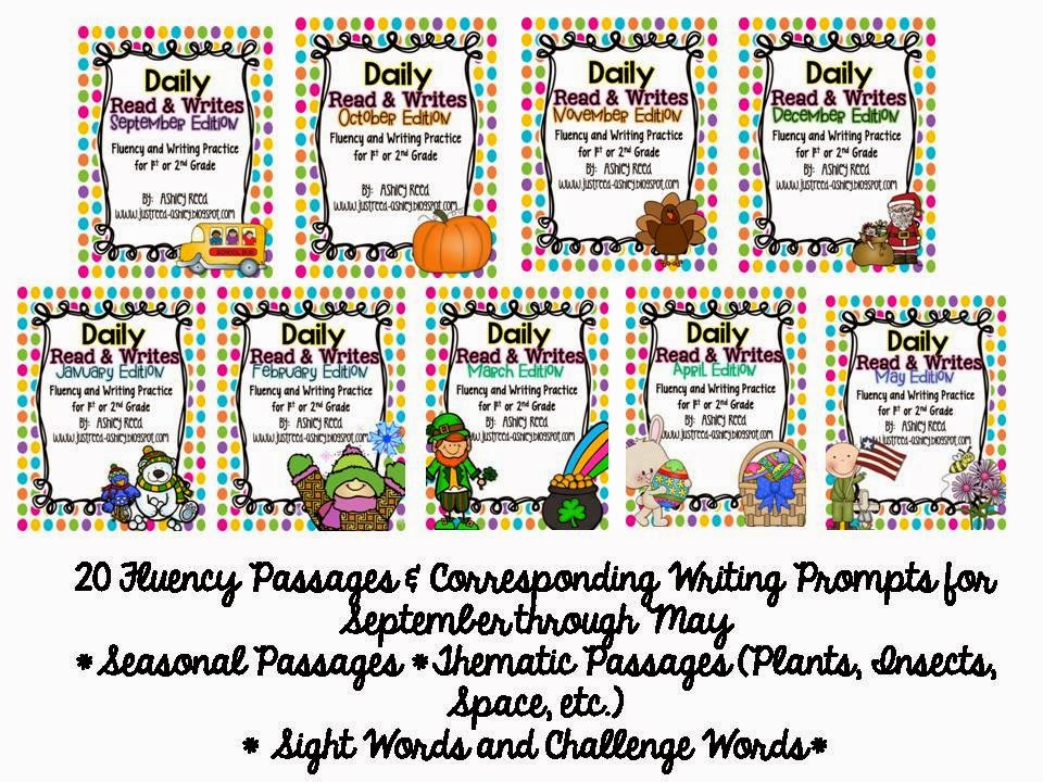 http://www.teacherspayteachers.com/Product/Read-and-Writes-Yearly-Bundle-Daily-Fluency-Passages-Plus-Writing-Prompts-1210025