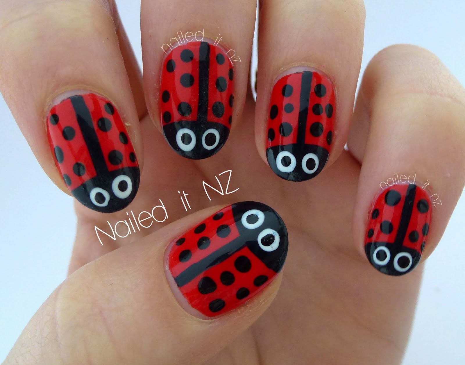 Ladybird Nails Times Two