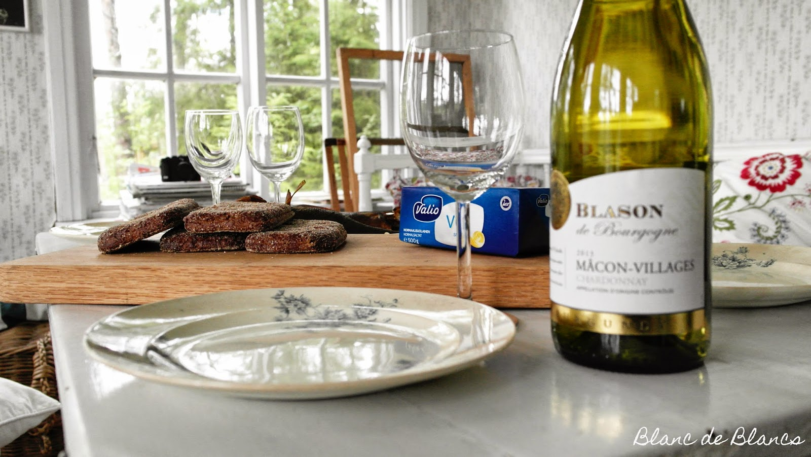 Savustettu ahven ja Blason de Bourgogne - www.blancdeblancs.fi