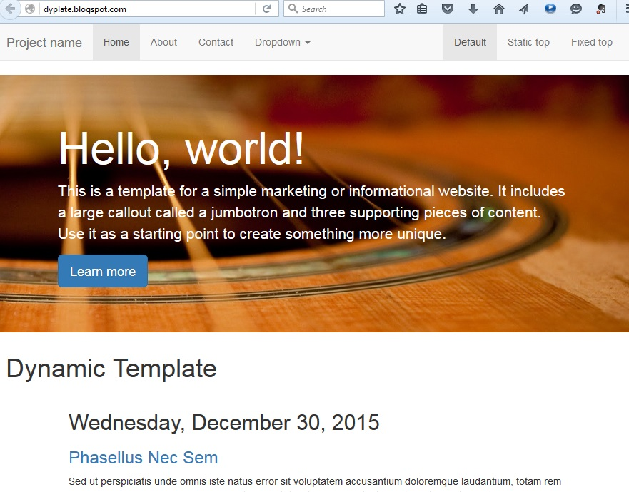 Using Bootstrap With Blogger Templates Blogger Tips Pro