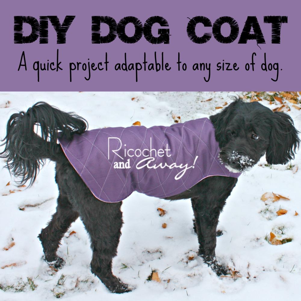 Ricochet and away diy dog coat diy dog coat jeuxipadfo Gallery