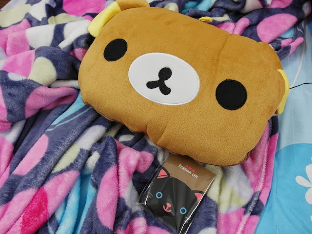 Kawaii Rilakkuma Bear Dual Purpose Pillow Quilt gmarket qoo10 singapore