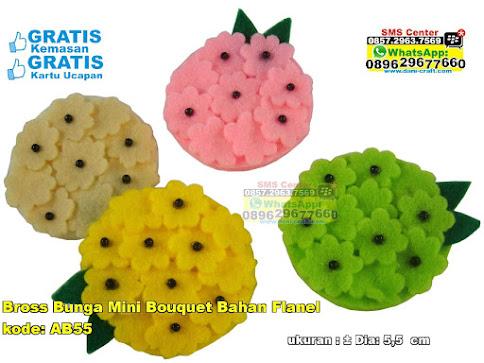 Bross Bunga Mini Bouquet Bahan Flanel murah