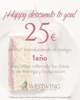 Westwing cumple 1 a o y lo decoro con urban retro etxekodeco - Cupon westwing ...