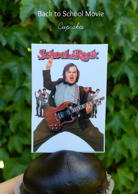 Back to School Movie Cupcakes - School of Rock! www.jacolynmurphy.com