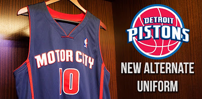 Detroit Pistons Unveil Motor City Alternate Jerseys