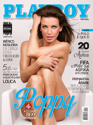 Fotos DJ Poppy Playboy Portugal Abril