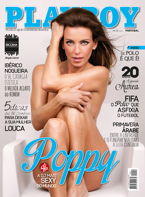 DJ Poppy capa da Playboy de Abril