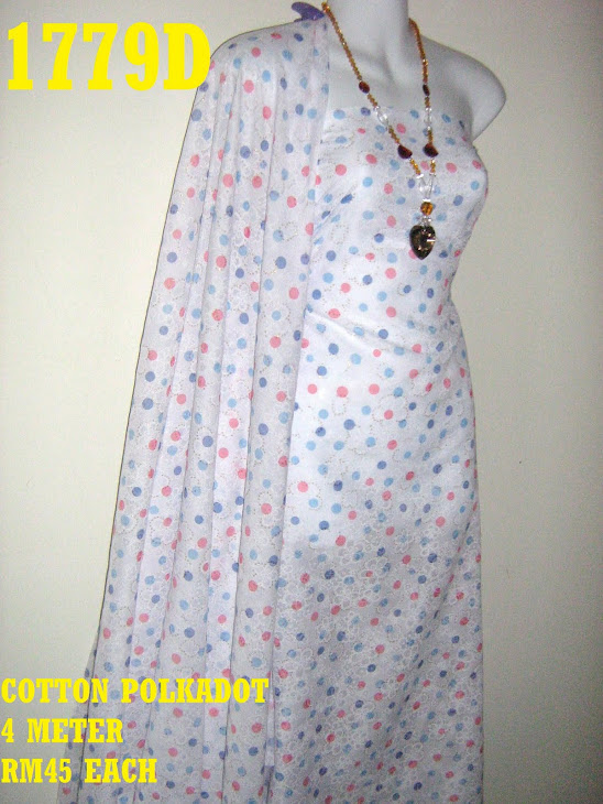 CP 1779D: COTTON POLKADOT, 4 METER