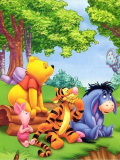 Winnie Pooh, crtani film slike besplatne pozadine za mobitele