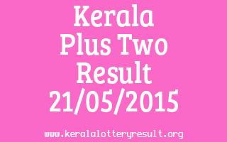 Kerala Plus Two Result 21-05-2015