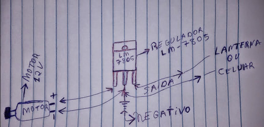 esquema de ligação do dínamo no regulador