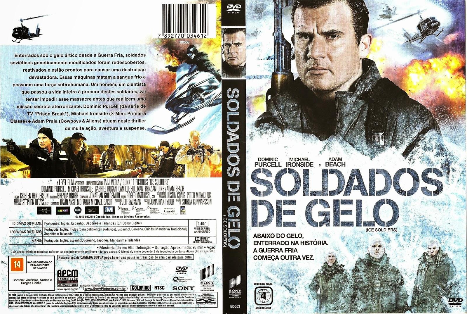 Capa DVD Soldados De Gelo