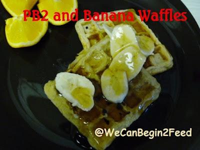 PB2 and Banana Waffles