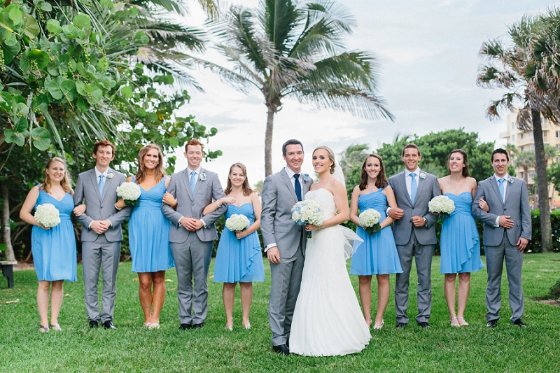 bridal party florida beach wedding
