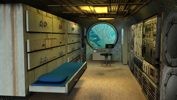 marymc23 maya modeling texturing and lighting submarine interior example. Black Bedroom Furniture Sets. Home Design Ideas