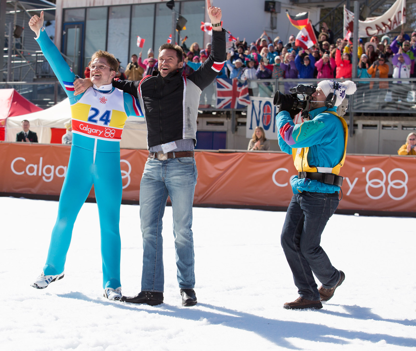 Taron Egerton and Hugh Jackman - Eddie The Eagle
