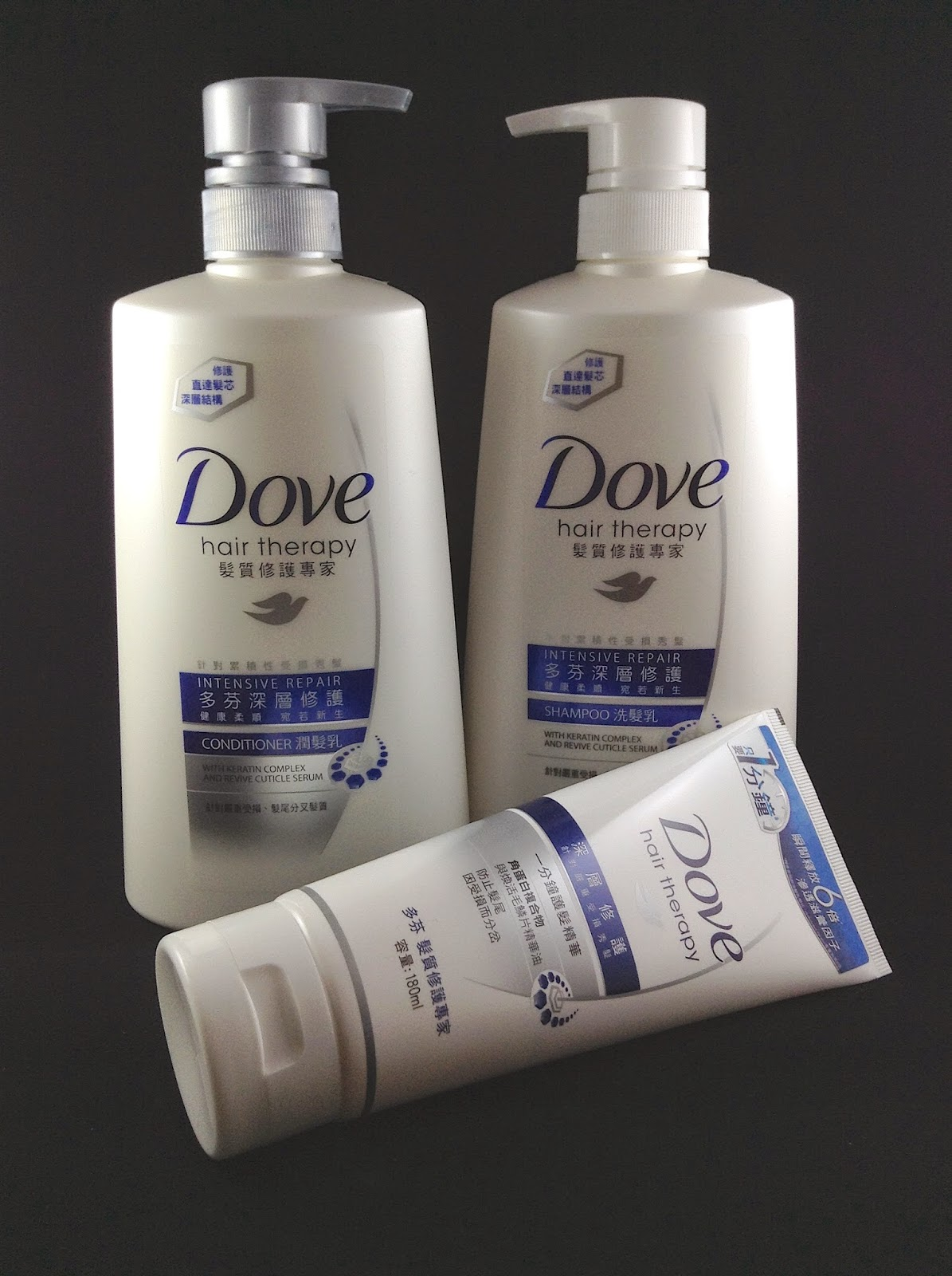 >> 深層修護新步驟*Dove 深層修護一分鐘護髮精華