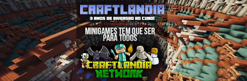 Minecraft Minigames Server da Craftlandia Network é o maior do Brasil!