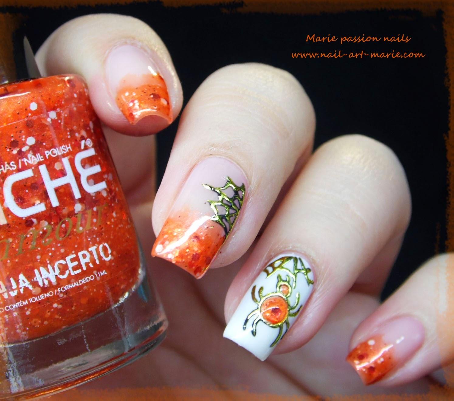 Nail Art Halloween Chic3