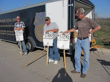 Striking members of Teamster Local 406 from Grand Rapids Gravel Company...