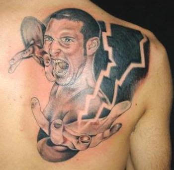 3D Tattoo on Upper Back