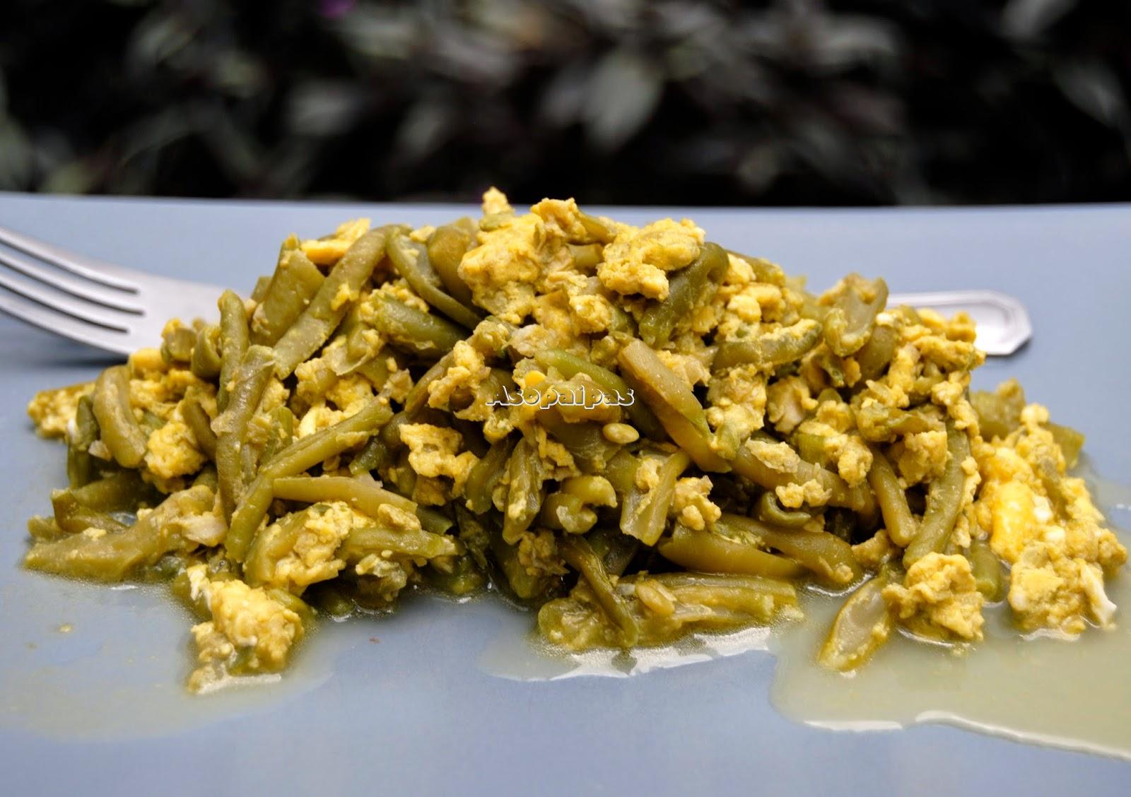Revuelto de jud as verdes y huevo receta asopaipas for 3 cocinar un huevo sin fuego