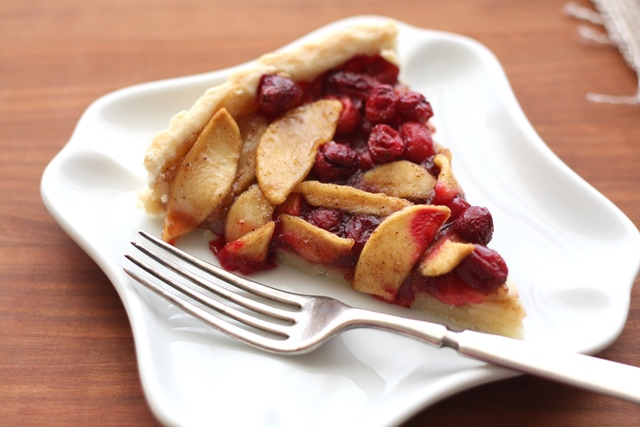 Cranberry Apple Tart recipe by Barefeet In The Kitchen