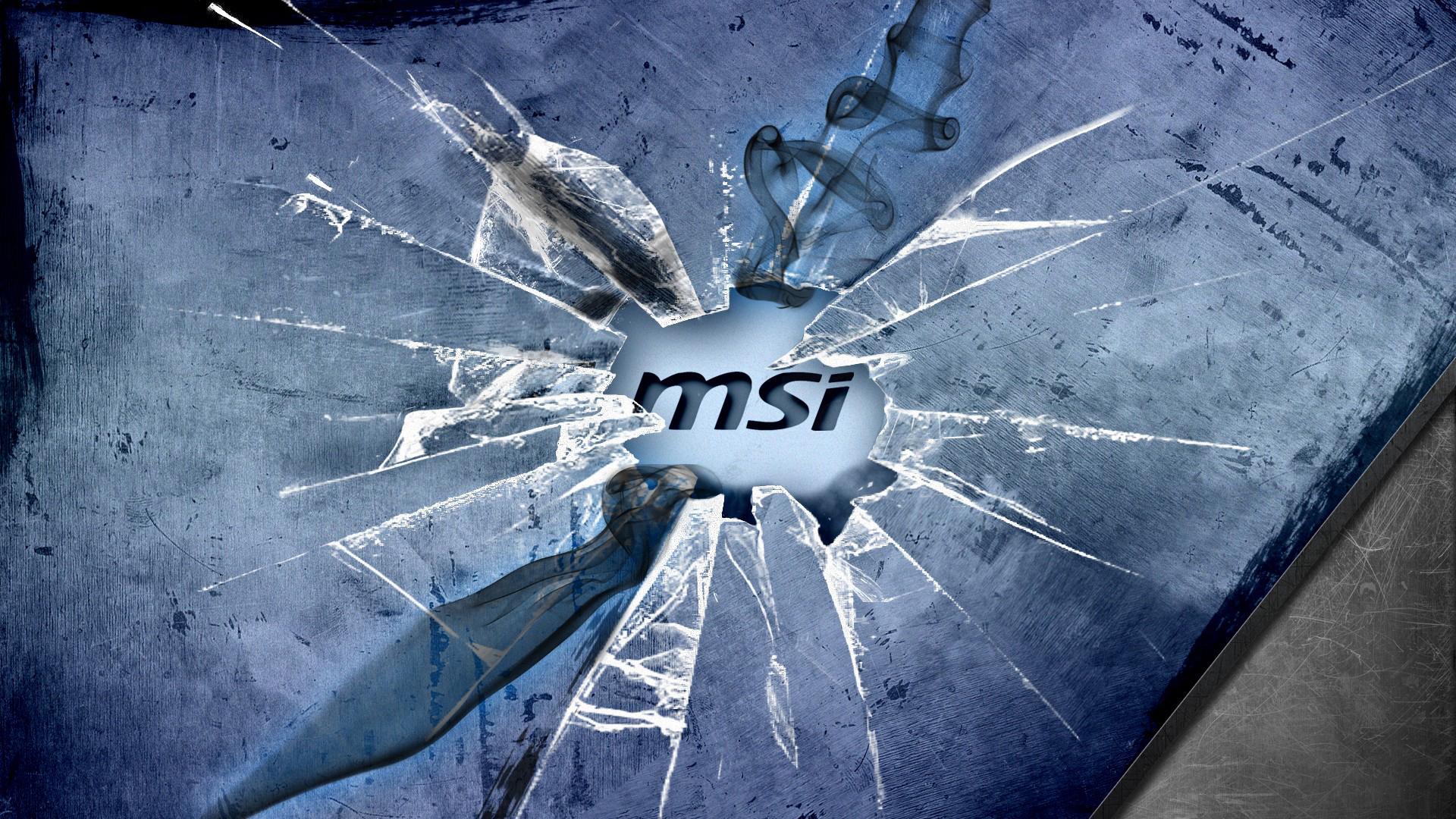 Msi logo crack glass 09 wallpaper hd msi cool crack broken glass logo voltagebd Images