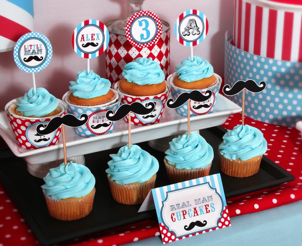 Vens Paperie Little Man Mustache Bash Party