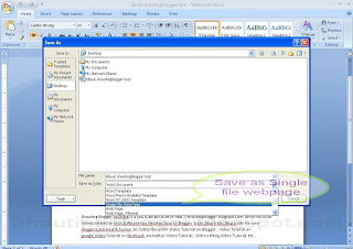 how to save word to webpage in office 2007