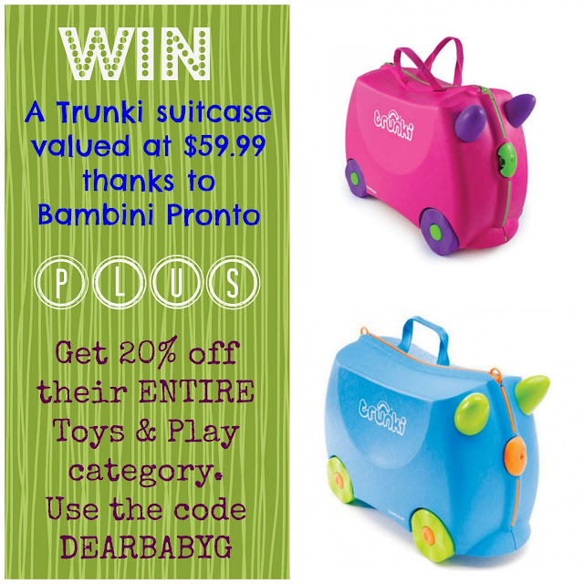 Trunki, flying with toddlers, giveaway, competition, win