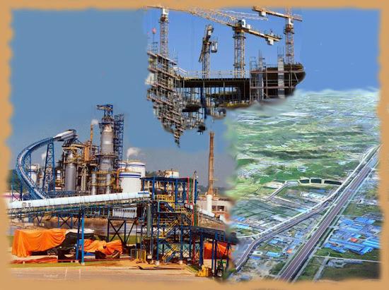 Строительство промышленного города