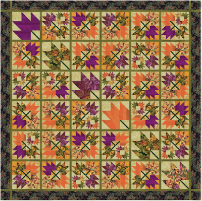 Quilt Inspiration Free Pattern Day Autumn Leaves