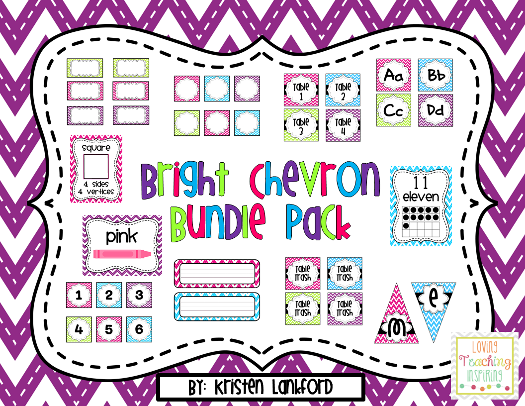 http://www.teacherspayteachers.com/Product/Bright-Chevron-Classroom-Decoration-Bundle-1338451