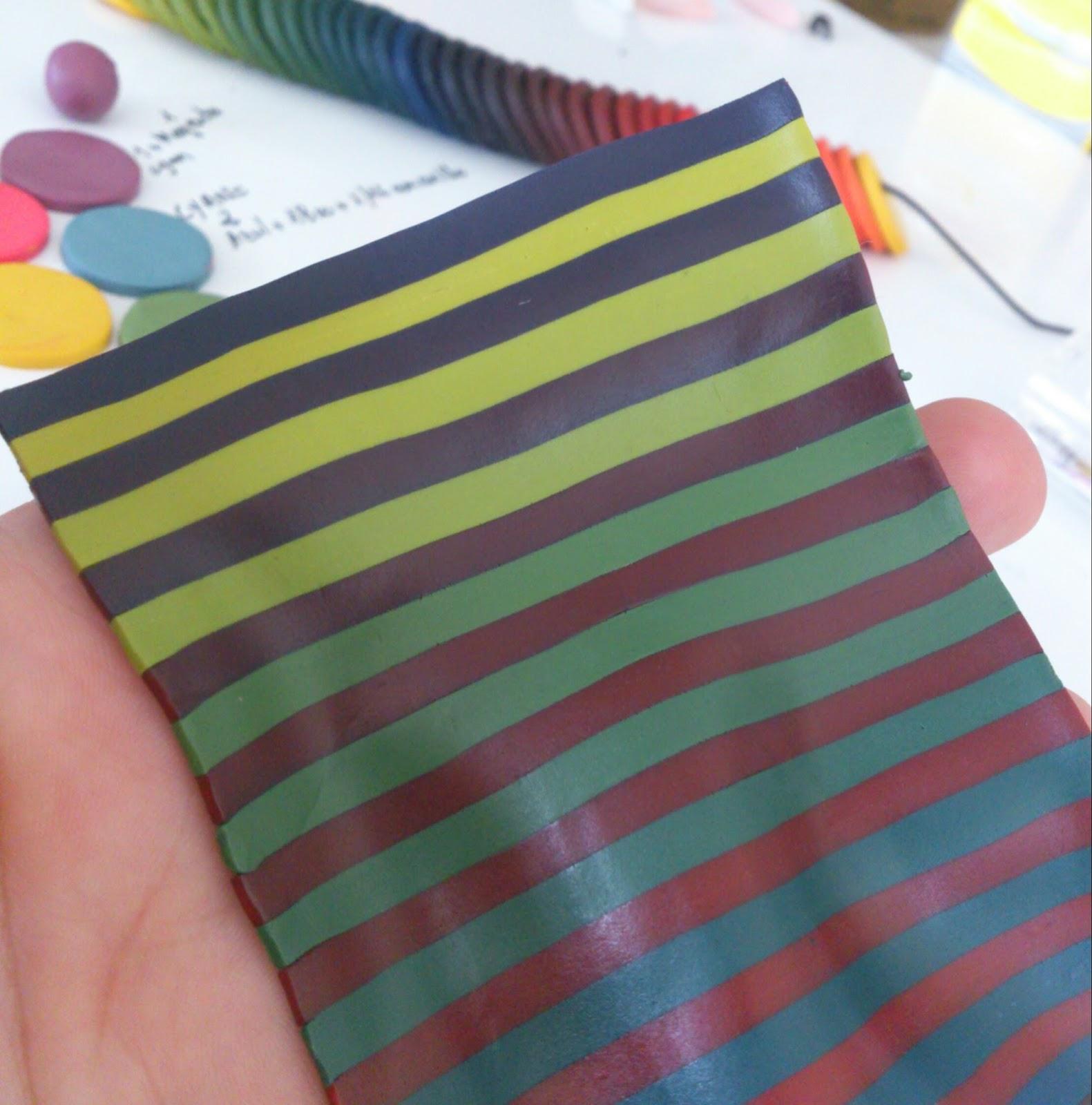 gama o escala de color con arcilla polimérica