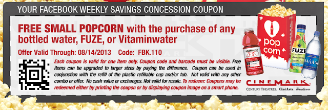 cinemark free small popcorn printable coupon