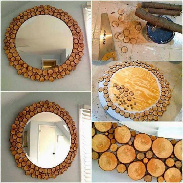 Как украсить зеркало своими руками на новый